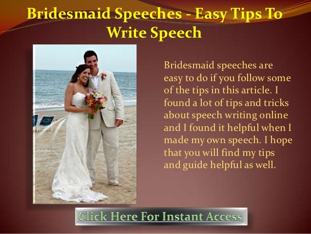 Easy speeches
