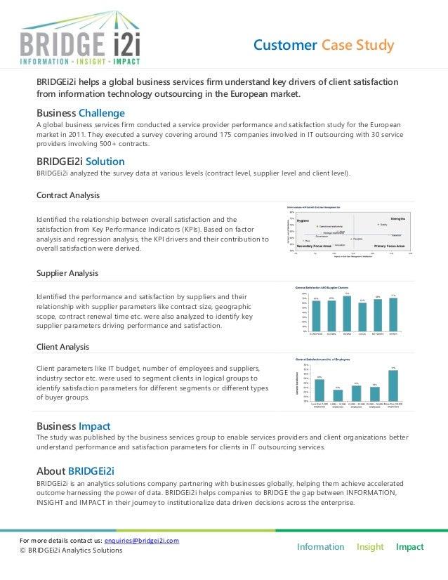 BRIDGEi2i case study - Improved customer satisfaction