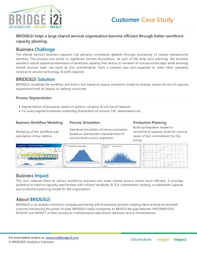 Customer Case Study     BRIDGEi2i helps a large shared services organization become efficient through better workforce    ...