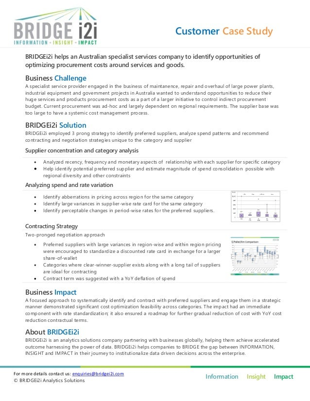 BRIDGEi2i Case Study - Optimized procurement spend