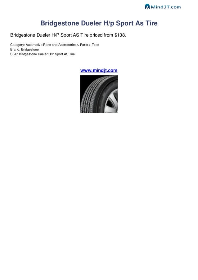Bridgestone Dueler hp Sport Bridgestone Dueler H/p Sport