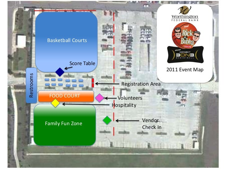 Rick and Bubba 3on3 Parking and Event Layout