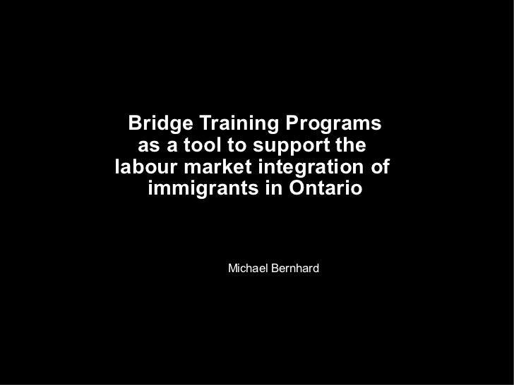 Bridge training programs