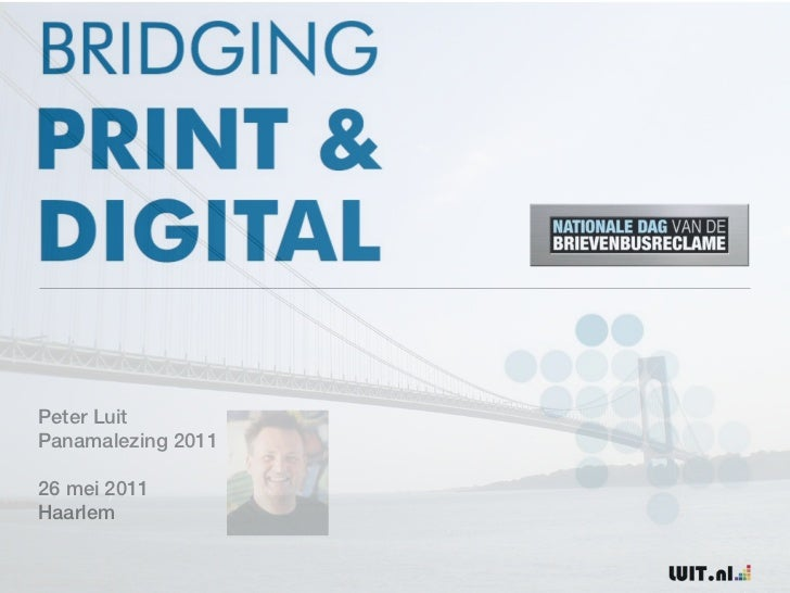 Panamalezing 2011: BRIDGING PRINT&DIGITAL