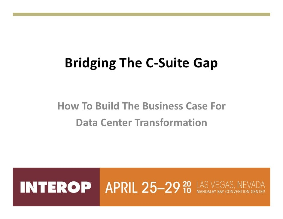 Bridging the c suite gap