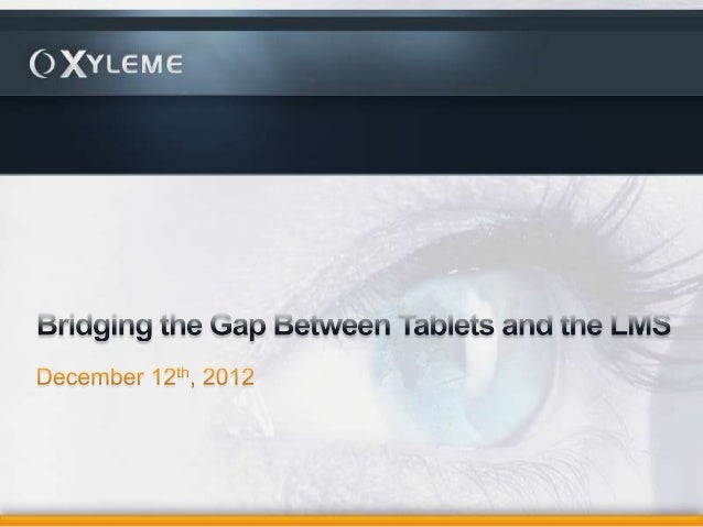 Bridging the Gap Between Tablets and the LMS