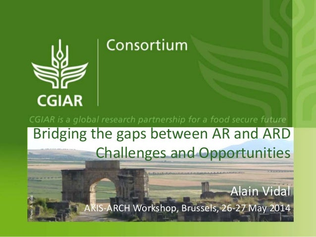 Bridging the gaps between AR and ARD Challenges and Opportunities Alain Vidal AKIS-ARCH Workshop, Brussels, 26-27 May 2014...
