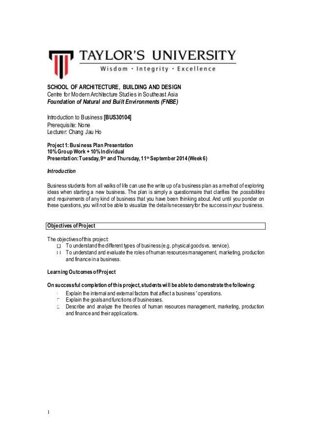 Business studies business plan