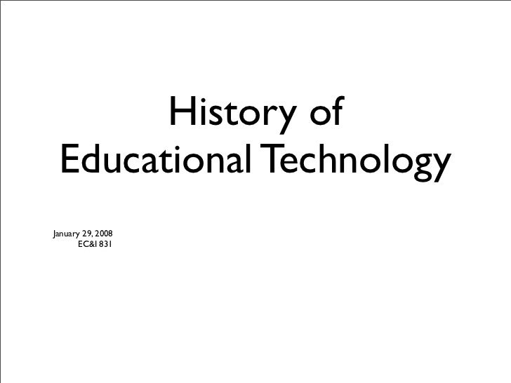 Brief History of Educational Technology