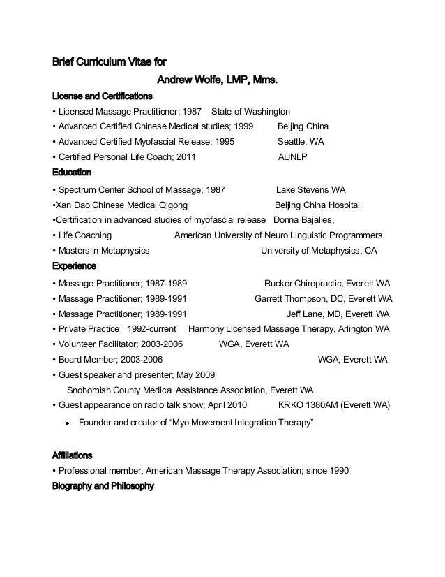massage therapy resume examples beauty