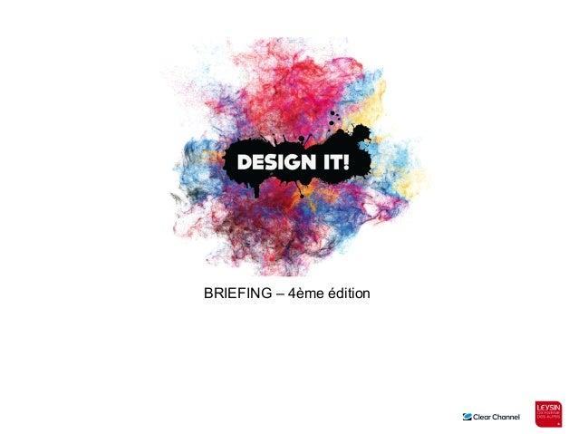 BRIEFING – 4ème édition