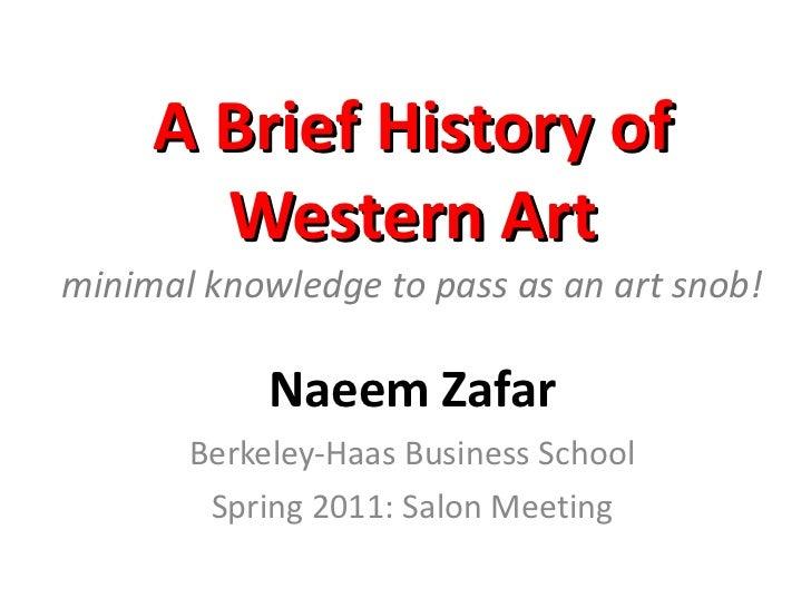 Brief history of art spring 2011