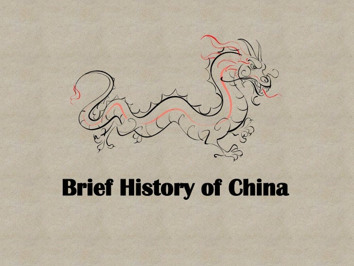 a brief history and an introduction of china The great wall of china is an ancient series of introduction despite its long history, the great wall of china as it is exists today was constructed.