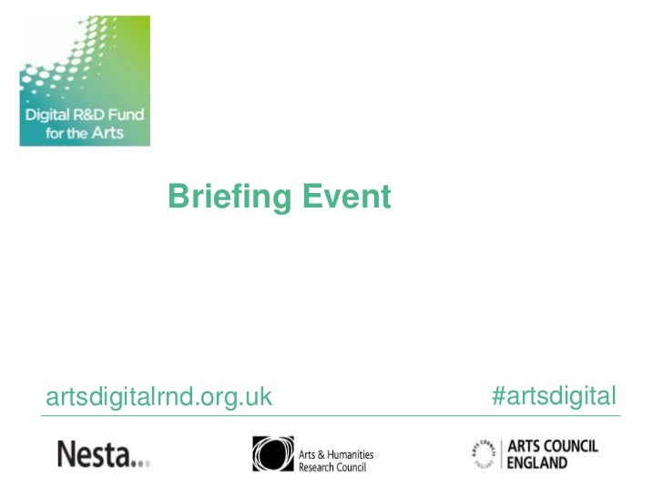 Digital R&D Fund for the Arts - Briefing event