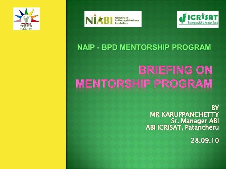 Briefing on mentorship_program