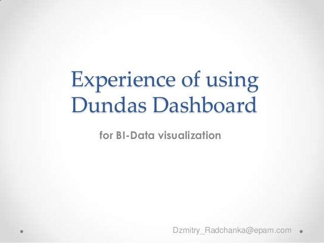 """ДмитрийРадченко, """"Brief introduction to dundas"""""""
