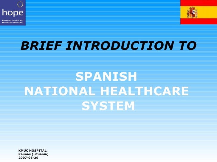 Spanish national healthcare system
