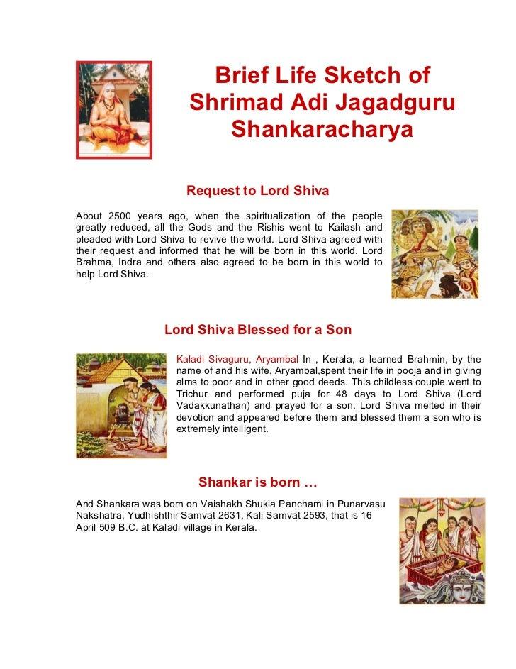 Brief Life Sketch of                        Shrimad Adi Jagadguru                           Shankaracharya                ...