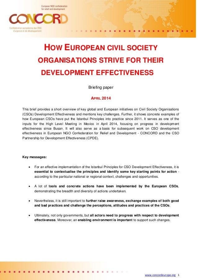 How European Civil Society Organisations Strive for their Development Effectiveness