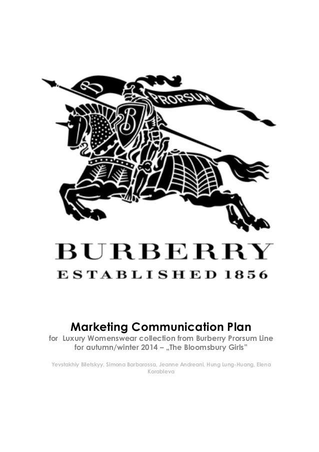Marketing Communication Plan - Burberry Prorsum Womenswear Line aw 2014