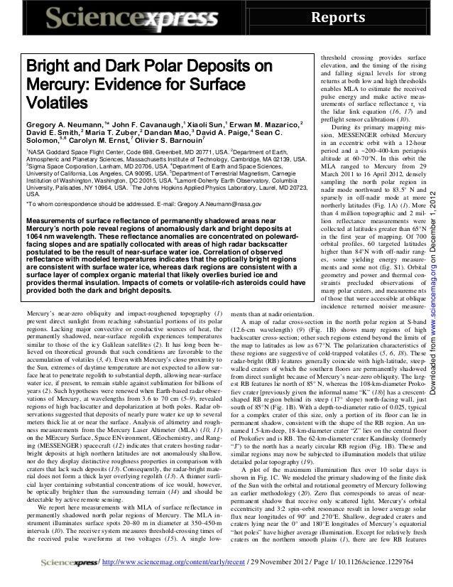 Bright and dark_polar_deposits_on _mercury_evidence_for_surface _volatiles