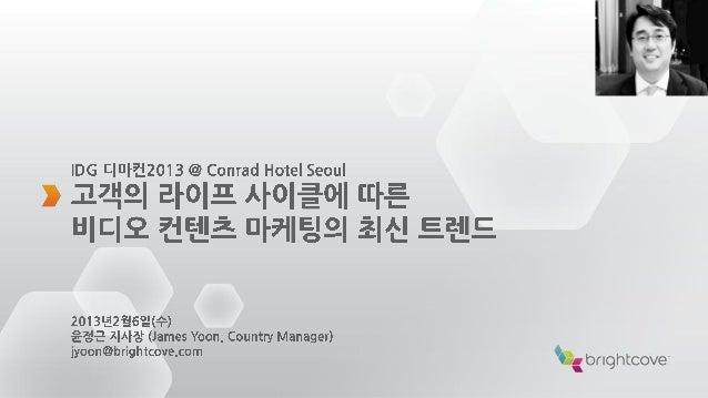 BRIGHTCOVE KOREA2|    Brightcove, Inc.