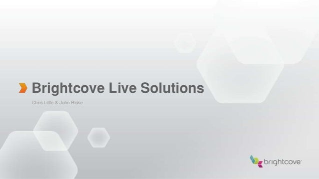 Brightcove Live Solutions