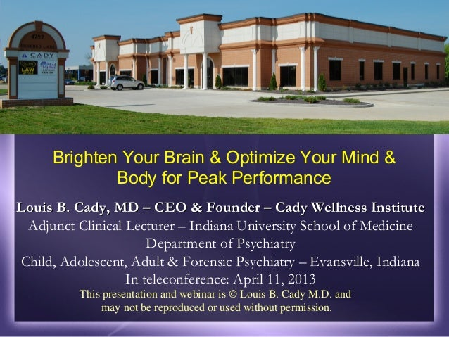 Brighten your brain & optimize your mind and body for peak performance