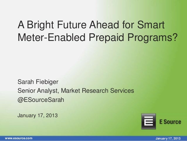 A Bright Future Ahead for Smart Meter-Enabled Prepaid Programs