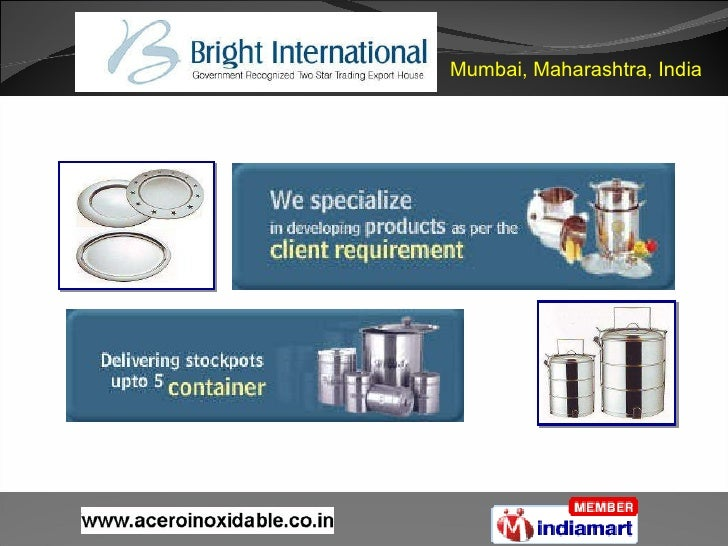 Stainless Steel Cookware & Food Containers Maharashtra India