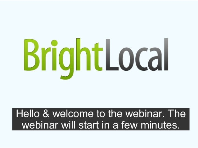 Hello & welcome to the webinar. Thewebinar will start in a few minutes.