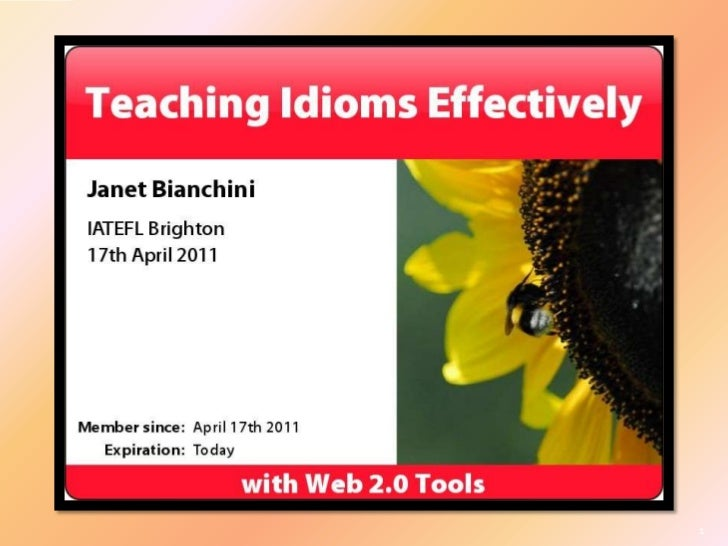 Teaching Idioms Effectively with Web 2.0 Tools