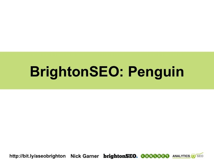 BrightonSEO: Penguin