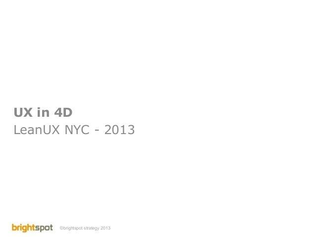 UX in 4D