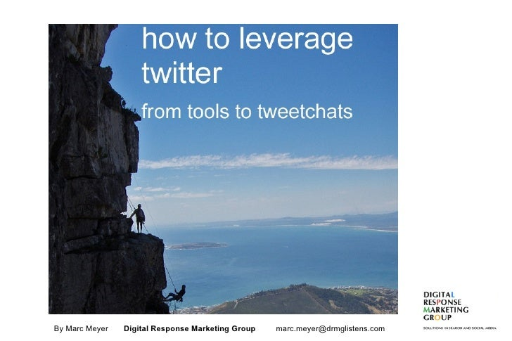 Leveraging Twitter: From Tools to Tweetchats