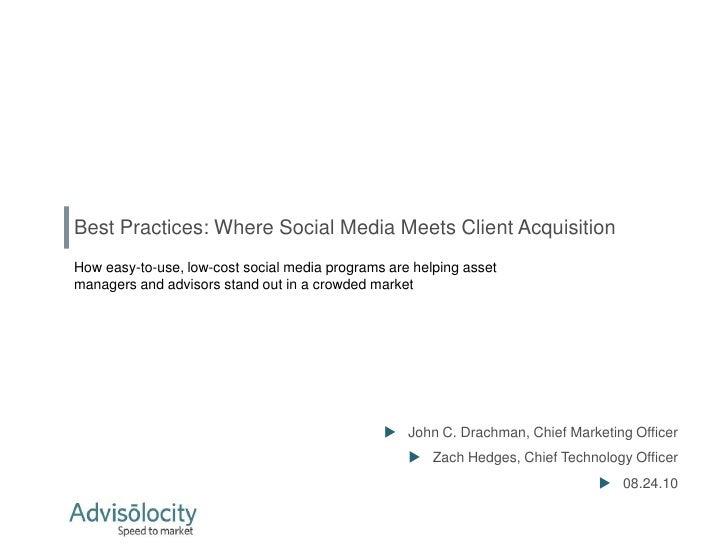 Where client acquisition meets social media
