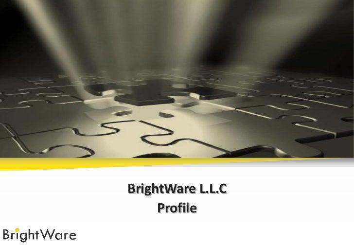 Bright ware profile english