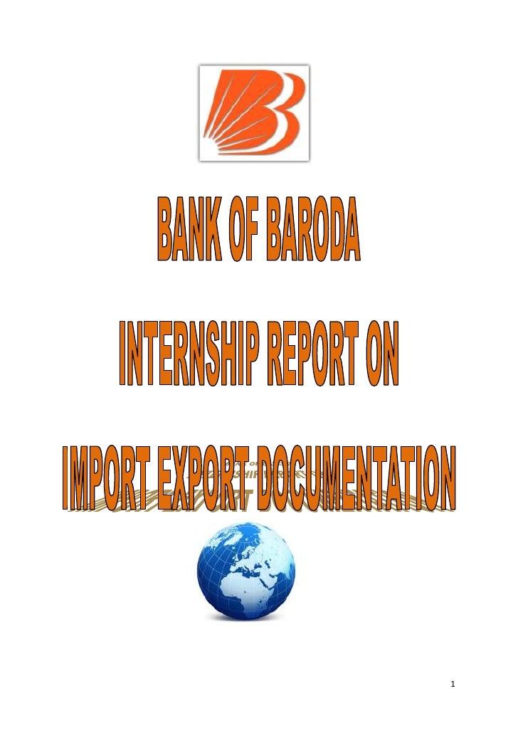 Brijal's report on import n export