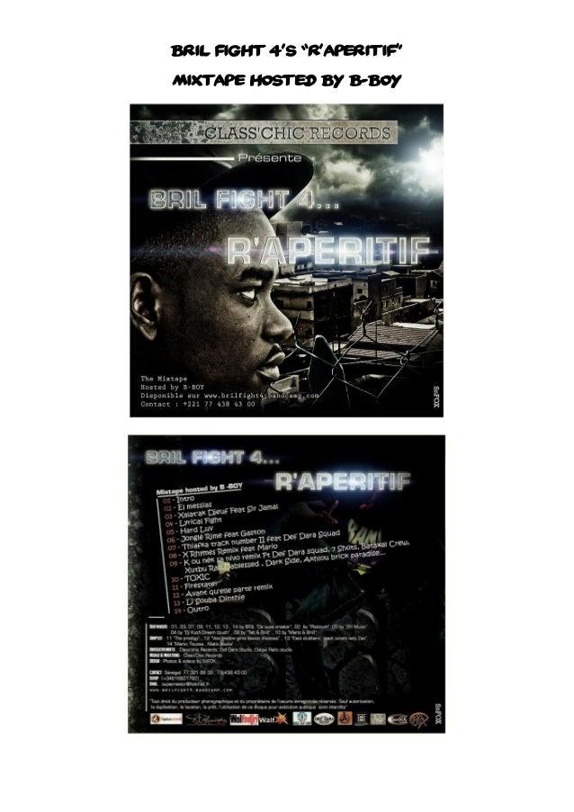 "Bril Fight 4's ""R'aperitif"" Mixtape Hosted By B-Boy"