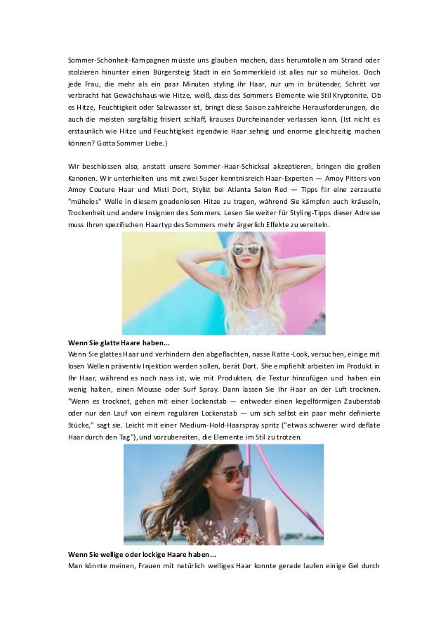 Sommer-Schönheit-Kampagnen müsste uns glauben machen, dass herumtollen am Strand oder stolzieren hinunter einen Bürgerstei...
