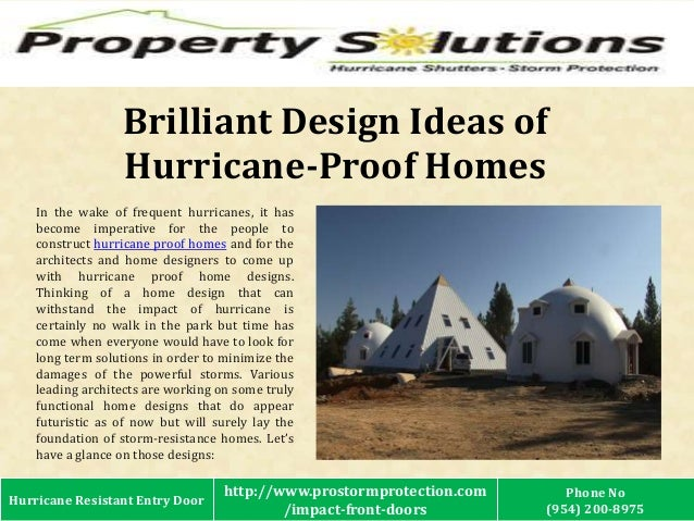 Brilliant design ideas of hurricane proof homes for Hurricane proof house plans