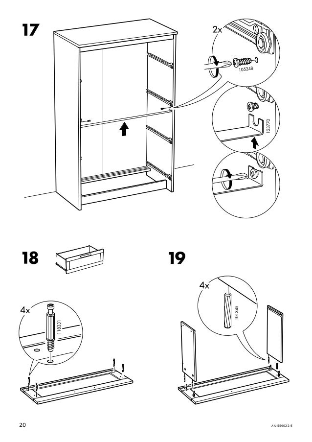 Brimnes dresser assembly instructions