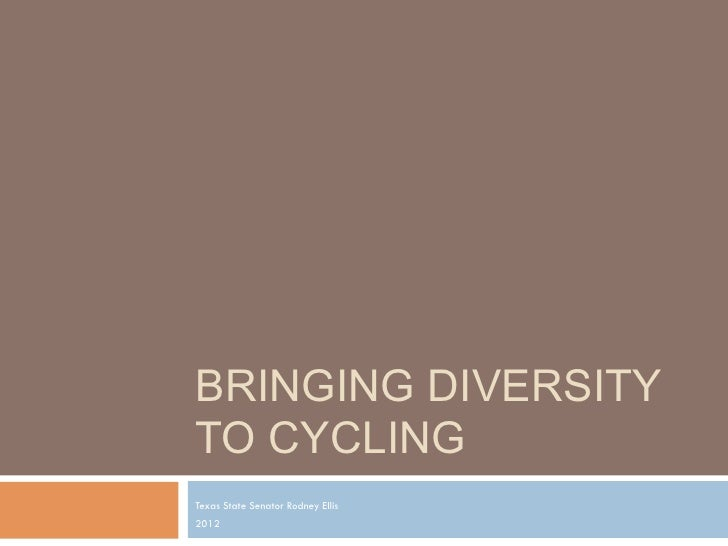 Bringing diversity to cycling - Senator Ellis - Keynote Speech