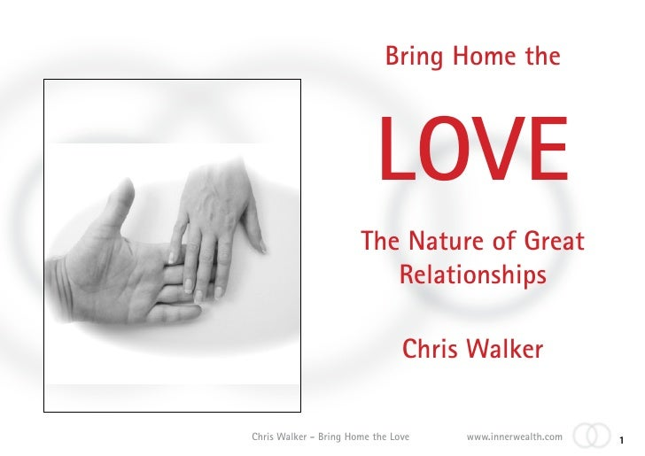 Bring Home the                              LOVE                        The Nature of Great                           Rela...