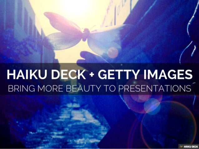 Bringing More Beauty to Presentations