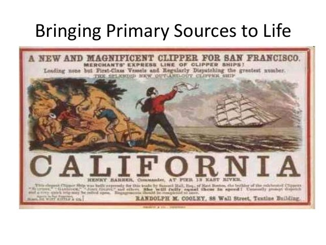 Bringing Primary Sources to Life