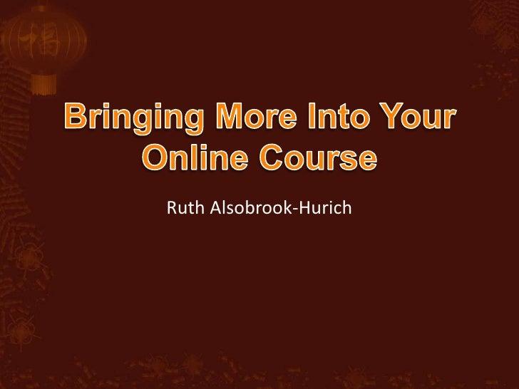 Ruth Alsobrook-Hurich