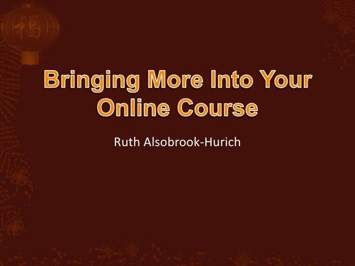Bring More Into Your Online Course
