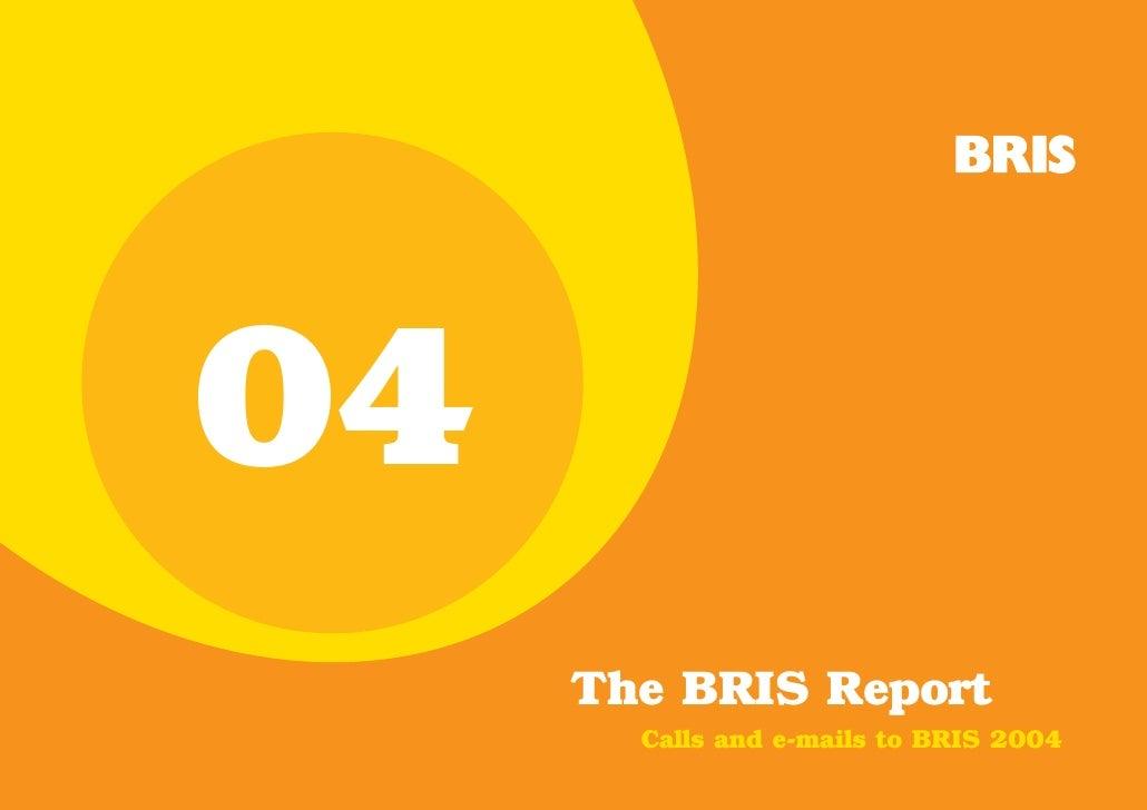 04     The BRIS Report       Calls and e-mails to BRIS 2004