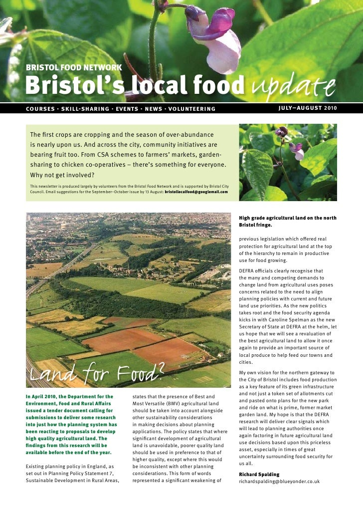 Bristols local food update july aug 10